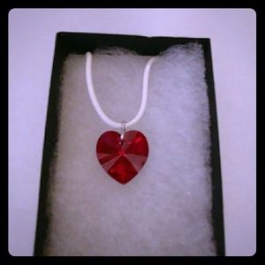 Jewelry - Chicago Red Crystal Heart Necklace